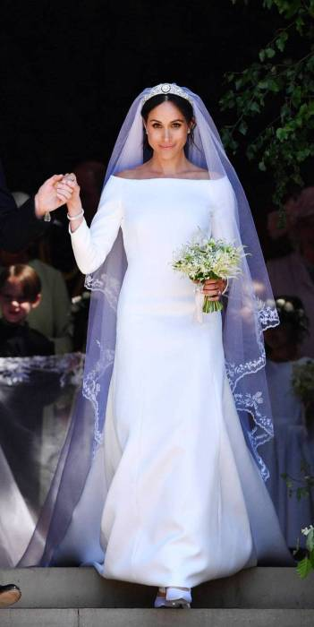 Prince Harry & Meghan in Givenchy Wedding Dress