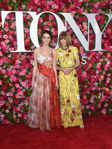 Bee Shaffer in Alexander McQueen Resort 2018 & Anna Wintour in Prada