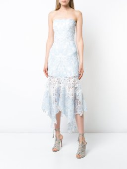 Jonathan Simkhai lace-embroidered flared dress