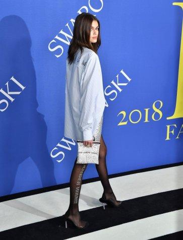 Kaia Gerber in Alexander Wang Fall 2018-3