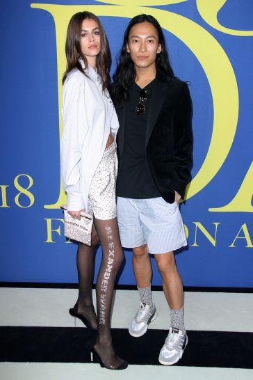 Kaia Gerber in Alexander Wang Fall 2018-6