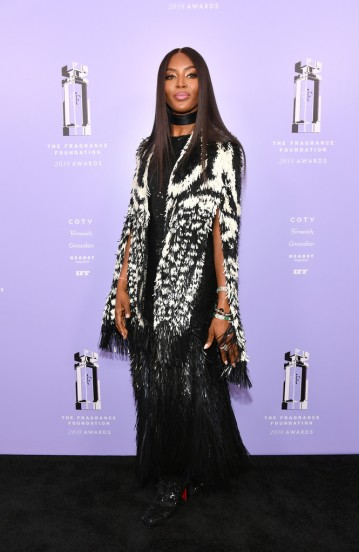 Naomi Campbell in Alexander McQueen Fall 2018