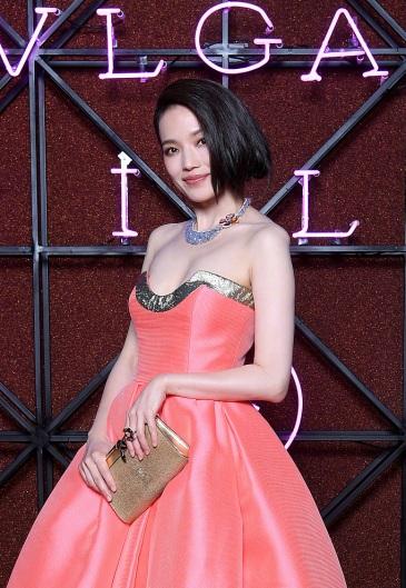 Shu Qi in Reem Acra Spring 2018-2