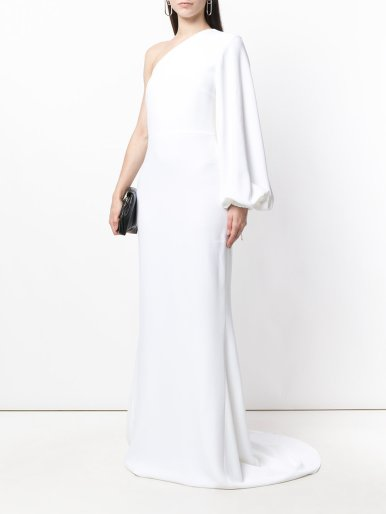 Stella McCartney Kate Crepe One-Shoulder Gown