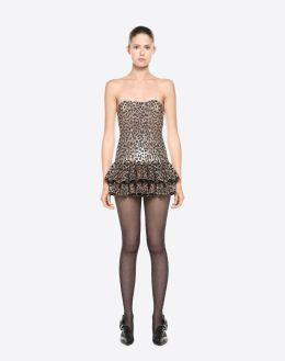 Valentino Wild Leopard Embroidered dress