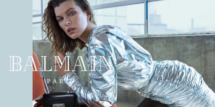 Milla Jovovich for Balmain Fall Winter 2018 Campaign-1