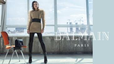 Milla Jovovich for Balmain Fall Winter 2018 Campaign-12
