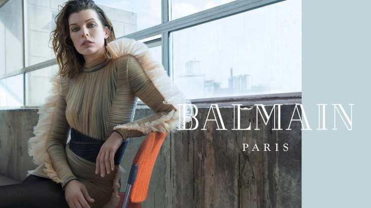 Milla Jovovich for Balmain Fall Winter 2018 Campaign-13