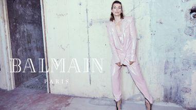 Milla Jovovich for Balmain Fall Winter 2018 Campaign-2