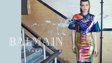 Milla Jovovich for Balmain Fall Winter 2018 Campaign-3