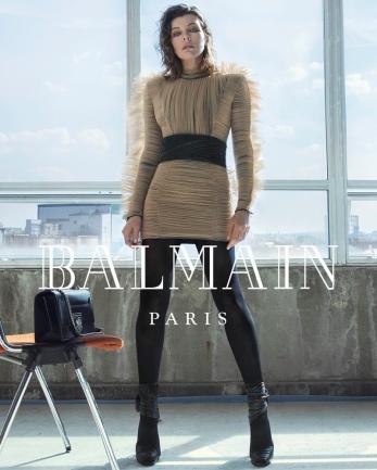 Milla Jovovich for Balmain Fall Winter 2018 Campaign-4