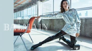 Milla Jovovich for Balmain Fall Winter 2018 Campaign-9