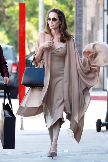 Angelina Jolie in Ryan Roche Fall 2018-2