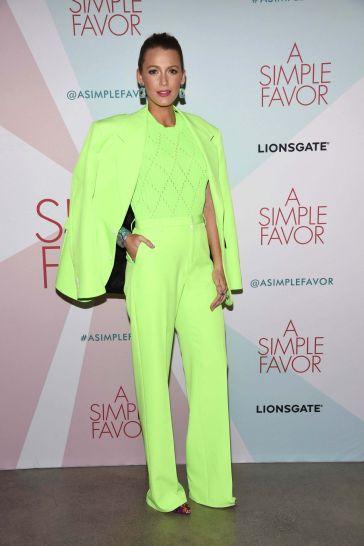 Blake Lively in Versace Spring 2019 Menswear-2