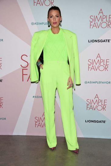 Blake Lively in Versace Spring 2019 Menswear