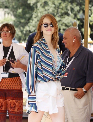 Emma Stone in Louis Vuitton Resort 2019