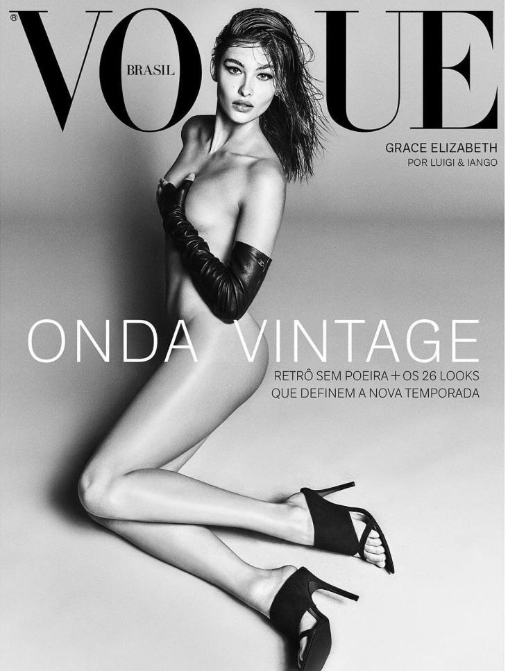 Grace Elizabeth X Vogue Brazil August 2018 Cover B