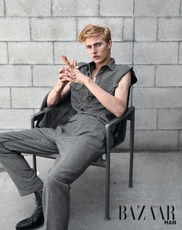 Lucky Blue Smith for Harper's Bazaar Taiwan MAN September 2018