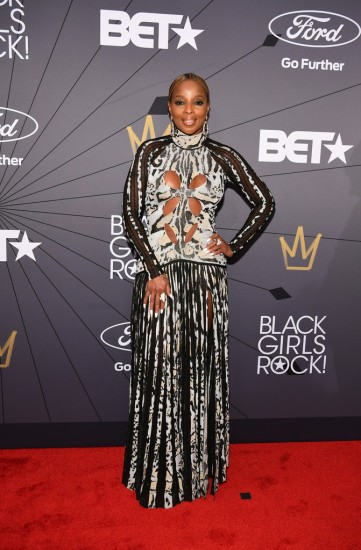 Mary J. Blige in Roberto Cavalli Fall 2018
