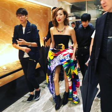 Sammi Cheng in Versace Fall 2018-2