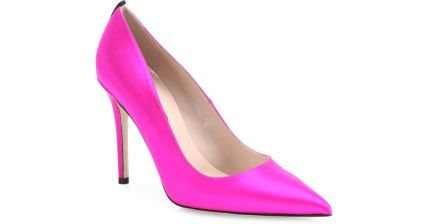 SJP by Sarah Jessica Parker Fawn Satin Point Toe Pumps Candy Pink