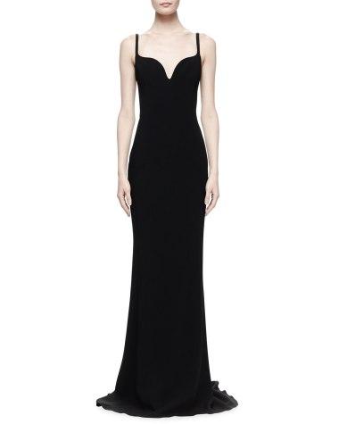 Stella McCartney Deep Sweetheart Crepe Gown