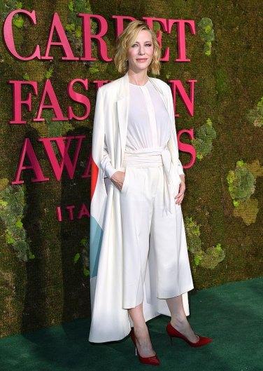Cate Blanchett in Stella McCartney 2014 green carpet collection-1