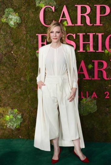 Cate Blanchett in Stella McCartney 2014 green carpet collection
