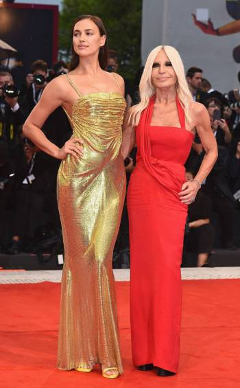 Donatella Versace in Versace Fall 2018