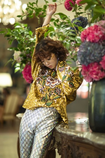Jolin Tsai in Gucci Resort 2019-1