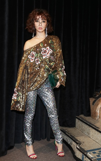 Jolin Tsai in Gucci Resort 2019