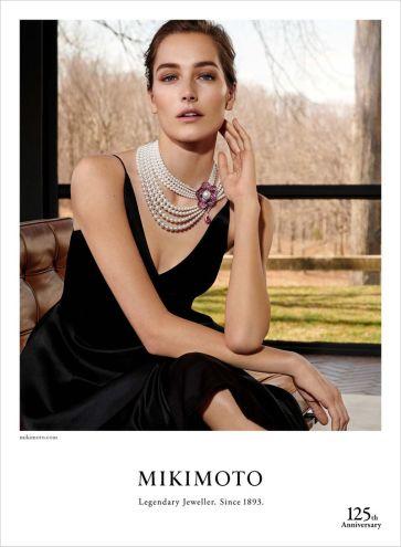 Josephine Le Tutour Mikimoto Jewelry Fall 2018 Campaign