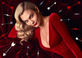 Karlie Kloss forCarolina Herrera Good Girl Velvet Fatale Fragrance Campaign-1