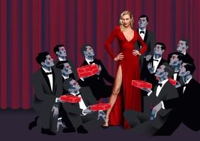 Karlie Kloss forCarolina Herrera Good Girl Velvet Fatale Fragrance Campaign-2