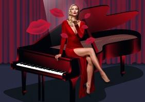 Karlie Kloss forCarolina Herrera Good Girl Velvet Fatale Fragrance Campaign-3