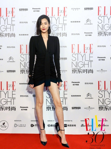Liu Wen in Saint Laurent Fall 2018-1