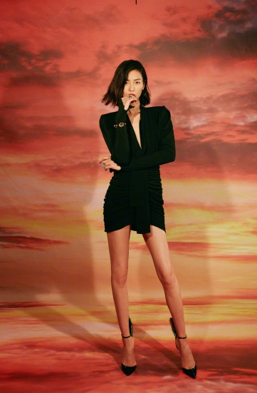 Liu Wen in Saint Laurent Fall 2018