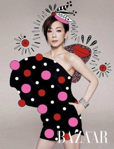 Sandy Lam & Siao Fong-fong for Harper's Bazaar HK November 2018-2