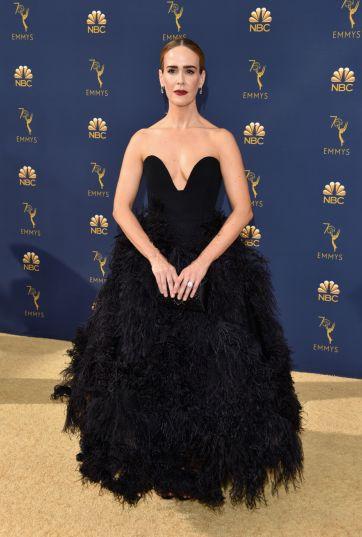 Sarah Paulson in Oscar de la Renta Spring 2019-3