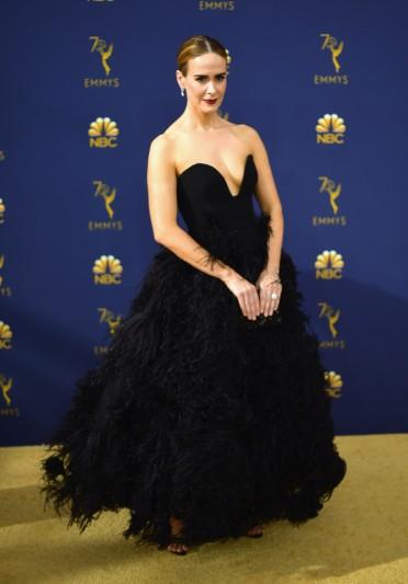 Sarah Paulson in Oscar de la Renta Spring 2019-4