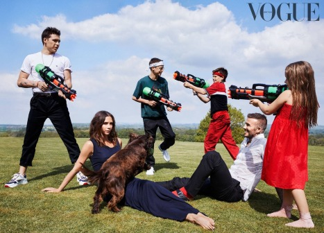 The Beckhams for Vogue UK October 2018-1