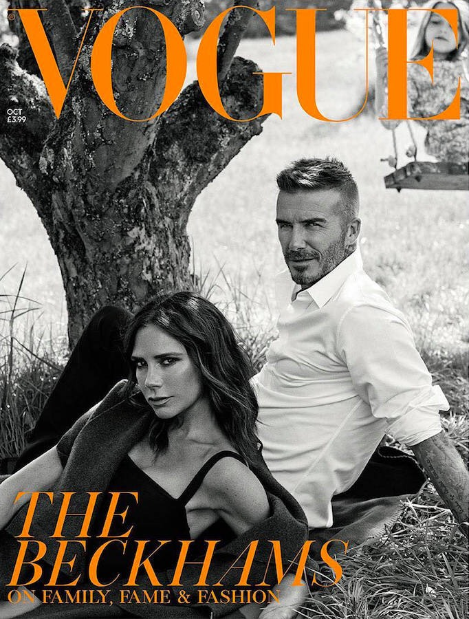 The Beckhams for Vogue UK October 2018 Cover B