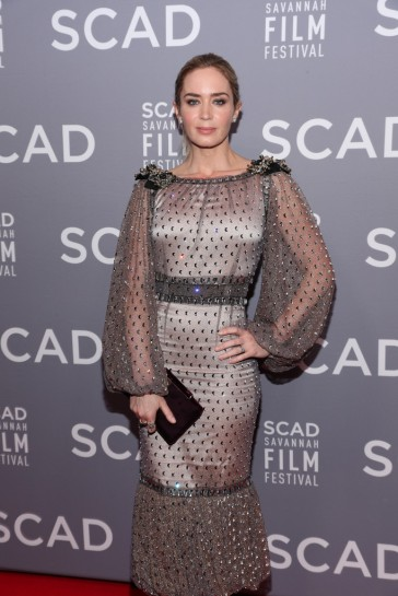 Emily Blunt in Dolce and Gabbana Secrets and Diamonds Fashion Show Fall 2018-1