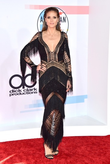Heidi Klum in Julien Macdonald Fall 2018