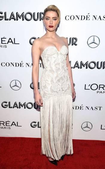 Amber Heard in Oscar de la Renta Spring 2019