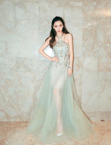 Angelababy in Elie Saab Spring 2018 Couture