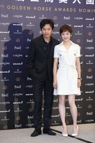 Deng Chan in Roberto Cavalli Spring 2019 Menswear & Sun Li in Valentino Resort 2019