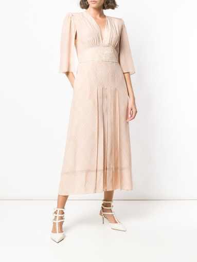 Fendi cape-style sleeves dress