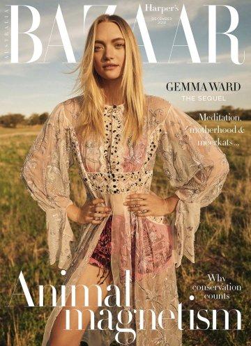 Gemma Ward Harper_s Bazaar Australia December 2018 Cover B