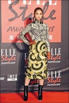 Rainie Yang in Dries Van Noten Fall 2018-1